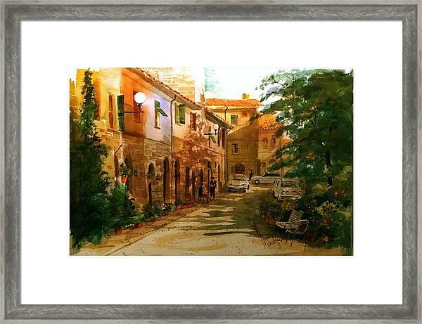 Piazza Della Giada Framed Print