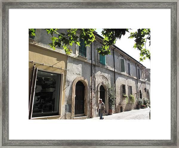 Piazza Garibaldi Cervia Ra Italia Framed Print