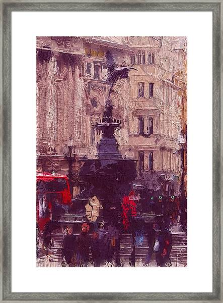 Piccadilly Circus 2 Framed Print