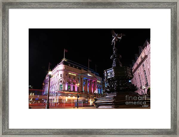 Piccadilly Circus Framed Print by Size X