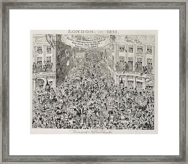 Piccadilly During The Great Exhibition Framed Print