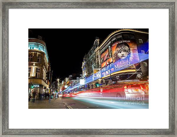 A Night In The West End Framed Print