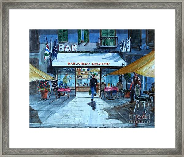 Piccolo Bar Circo Massimo Framed Print