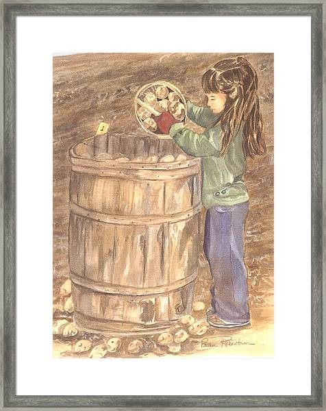Picking At A Young Age 1 Framed Print