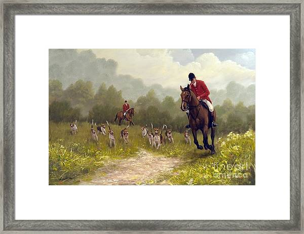 Picking Up The Scent Framed Print