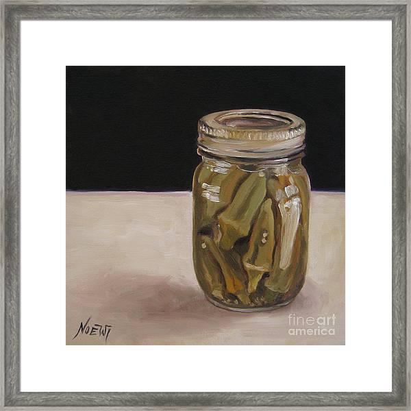 Pickled Okra Framed Print