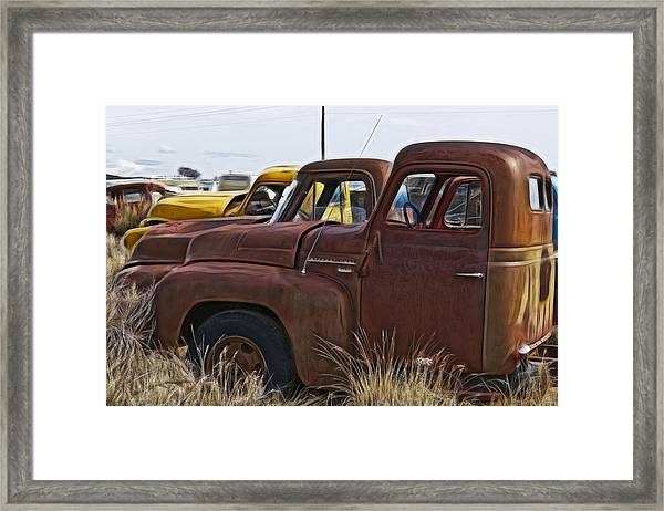 Pickup Cabs 2 Framed Print