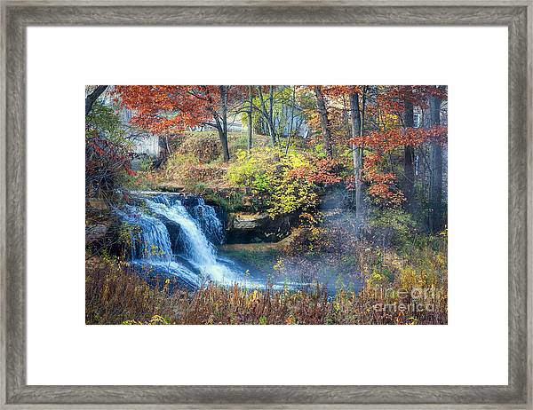 Framed Print featuring the photograph Pickwick Mill Falls by Kari Yearous