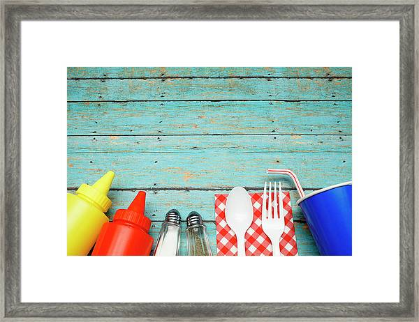 Picnic Essentials Framed Print by Dustypixel