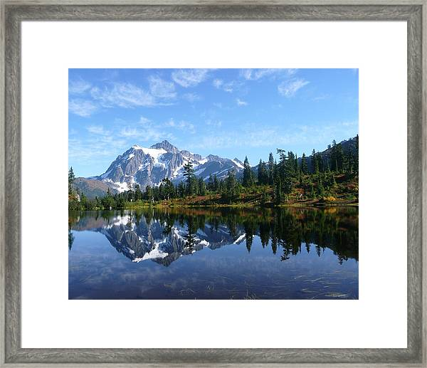 Framed Print featuring the photograph Picture Lake by Priya Ghose