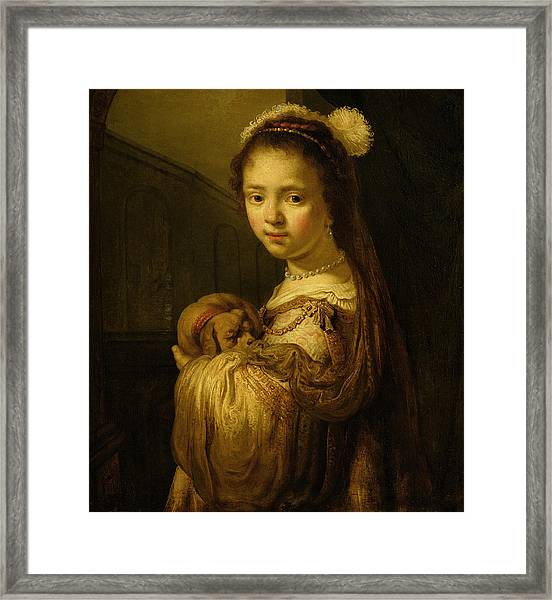 Picture Of A Young Girl Framed Print