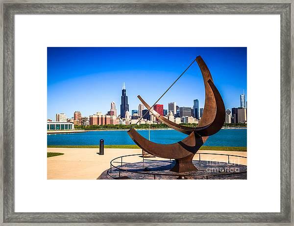 Picture Of Chicago Adler Planetarium Sundial Framed Print