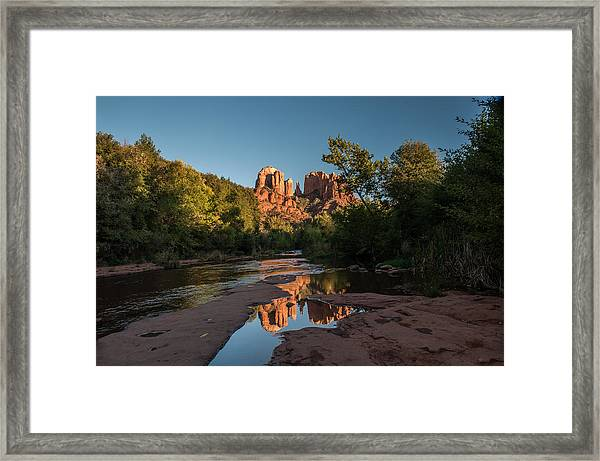 Pictured Stream Framed Print
