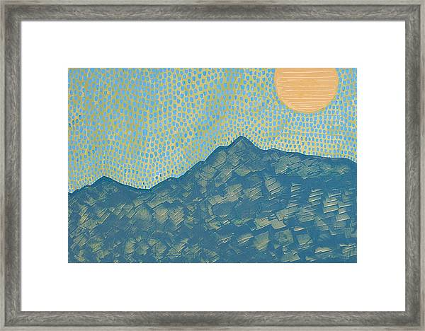 Picuris Mountains Original Painting Framed Print