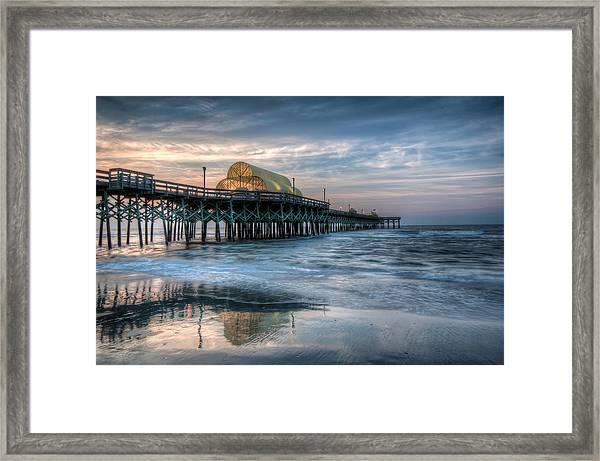 Pier Before Sunrise Framed Print