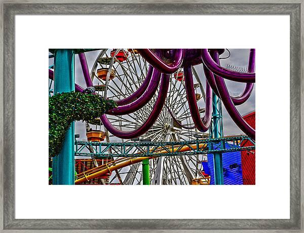 Pier Fun Framed Print