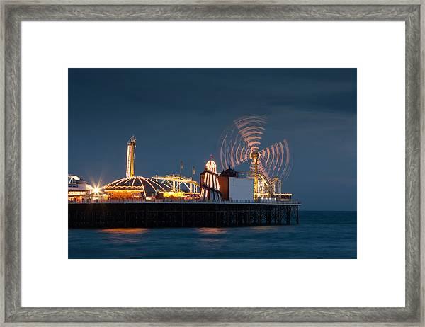 Pier Resplendant Framed Print