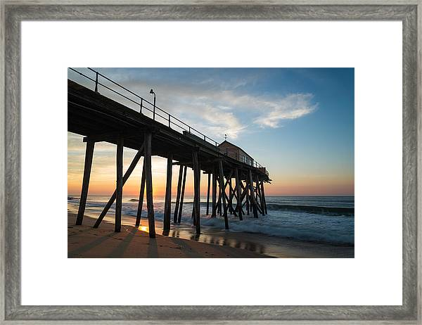 Pier Side Framed Print