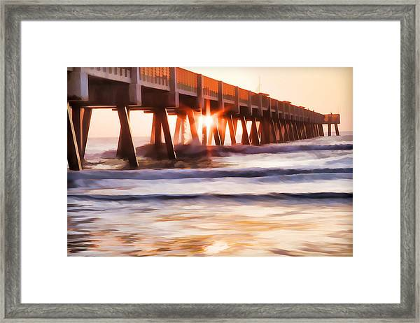 Pier Sunrise Too Framed Print