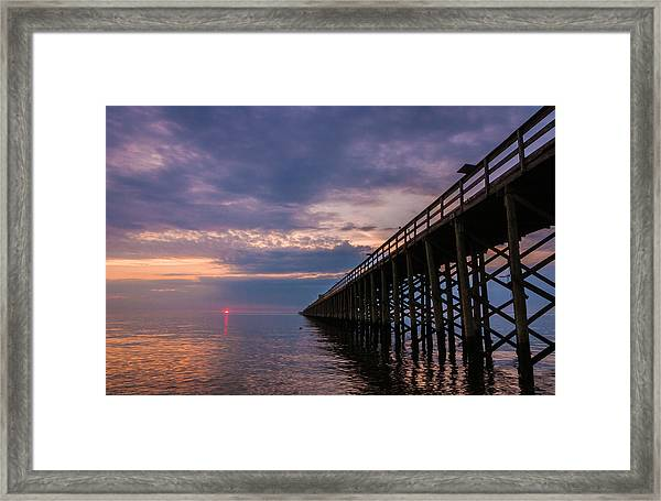 Pier To The Horizon Framed Print