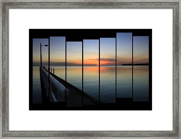 Pier View Sunset Framed Print
