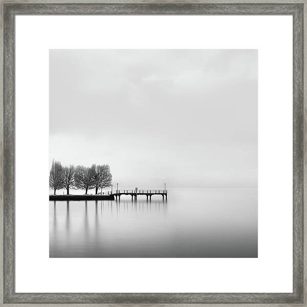 Pier With Trees (2) Framed Print by George Digalakis