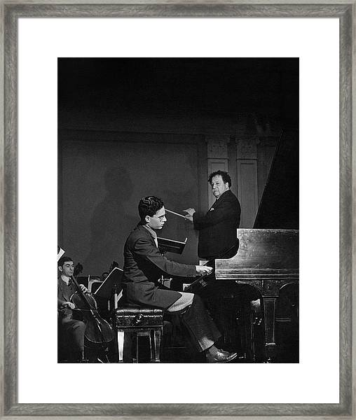 Pierre Monteux With Leon Fleisher Framed Print