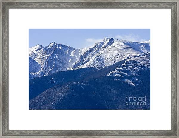 Pikes Peak Framed Print