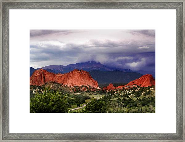 Pikes Peak Storm Framed Print