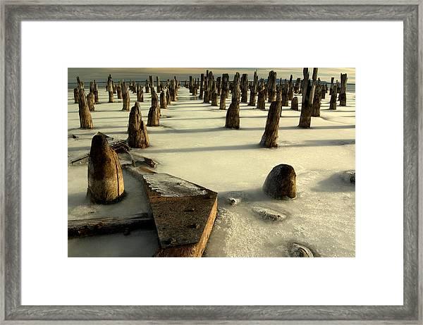 pilings III Framed Print