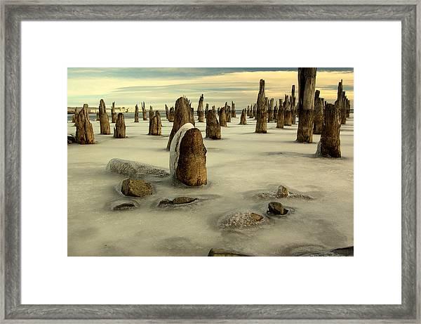 pilings VII Framed Print