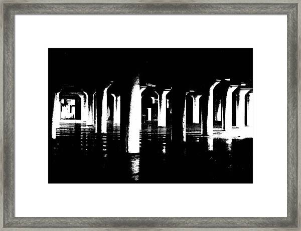 Pillars And Hardwoods Framed Print