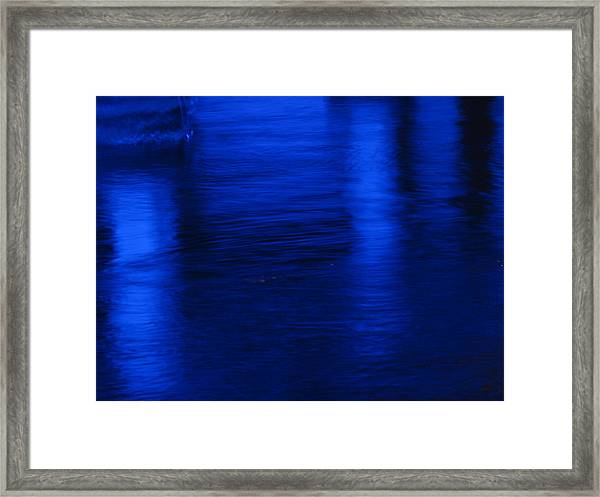 Pillars Of Blue Framed Print