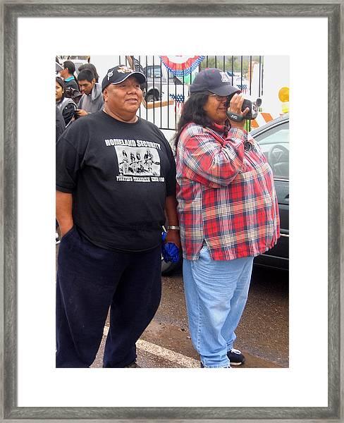 Pima Indians Watching Parade Sacaton Arizona 2005 Framed Print