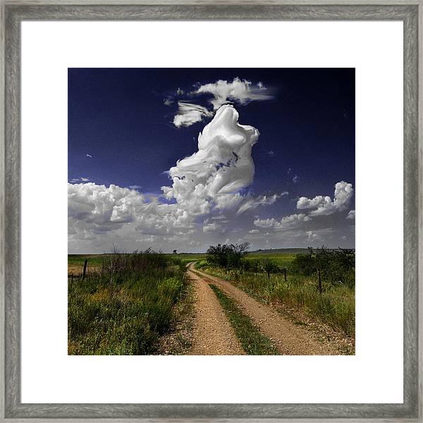 Pin-up Sky Framed Print