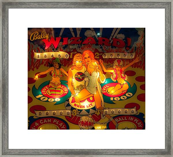 Pinball Wizard Tommy Vintage Framed Print