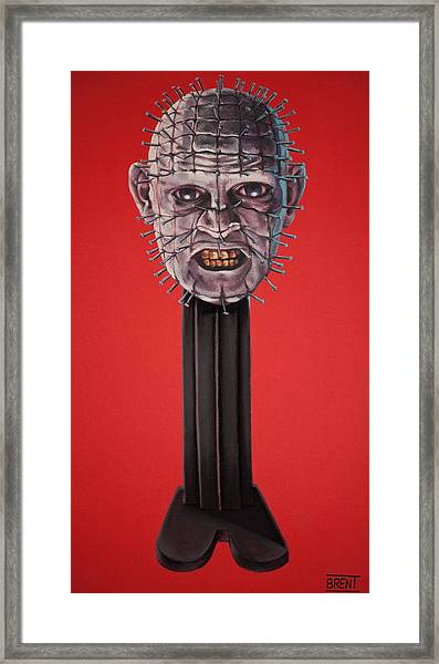 Pinhead Framed Print by Brent Andrew Doty