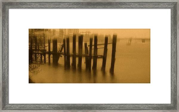 Pinholed Pier Framed Print