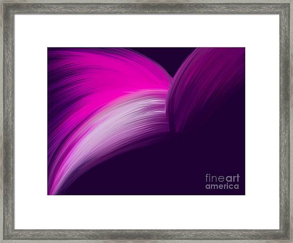 Pink And Purple Curves Framed Print