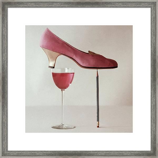Pink Capezio Pump Framed Print