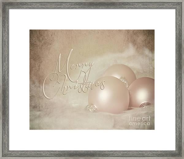 Pink Christmas Ornaments Framed Print