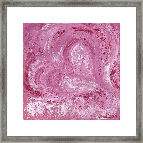 Pink Color Of Energy Framed Print
