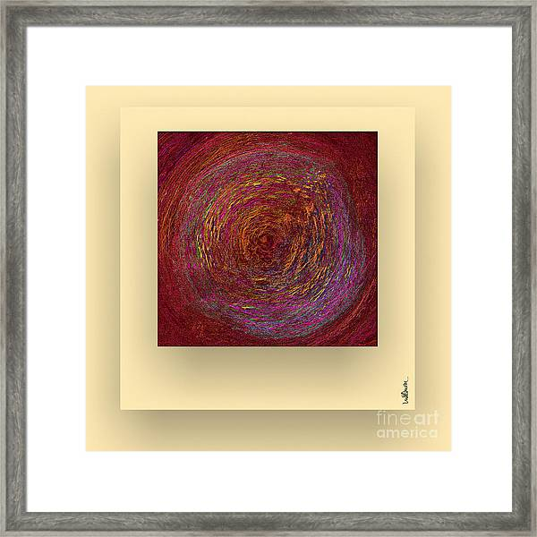 Framed Print featuring the digital art Pink Color Sand by Mihaela Stancu