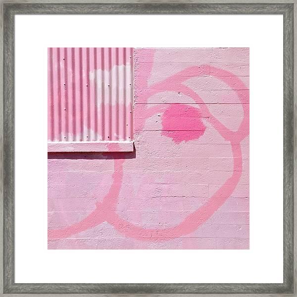 Pink Detail Framed Print
