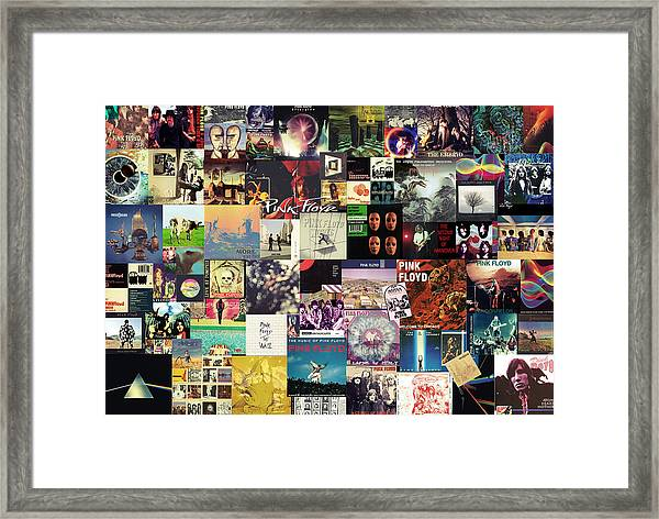 Pink Floyd Collage I Framed Print