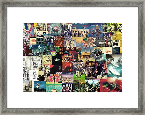 Pink Floyd Collage II Framed Print