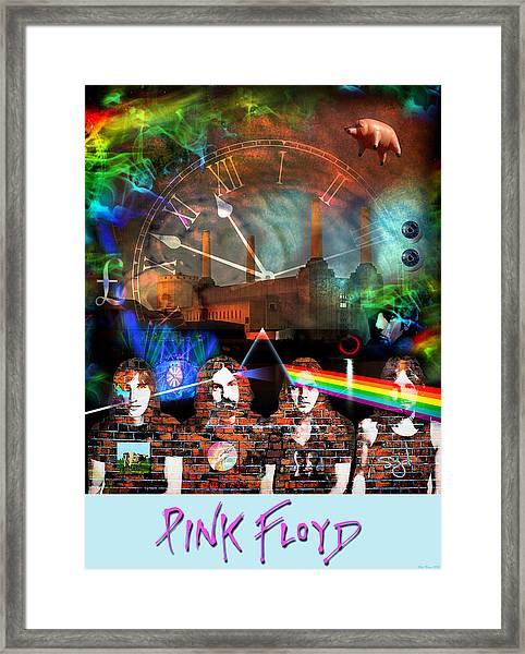 Pink Floyd Collage Framed Print