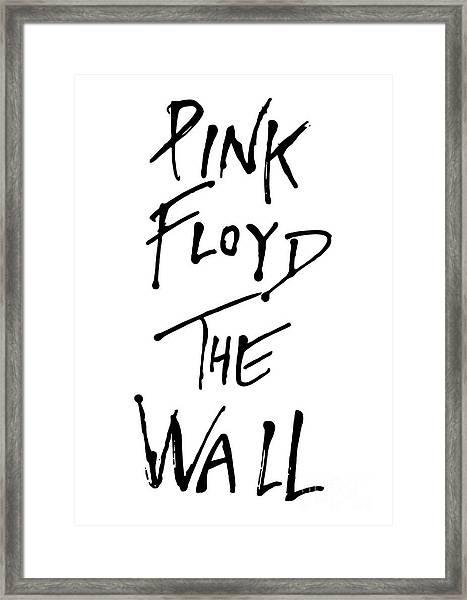 Pink Floyd No.01 Framed Print