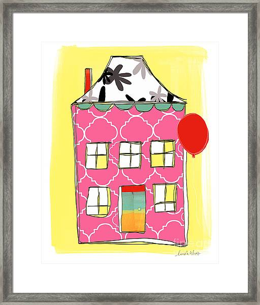 Pink House Framed Print