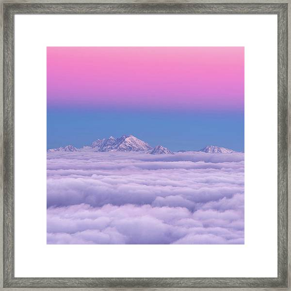 Pink In The Sky Framed Print